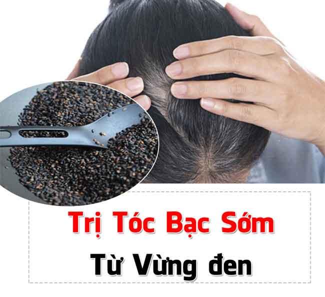 Cách trị tóc bạc sớm bằng vừng đen