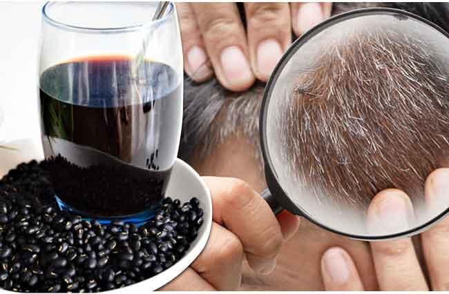 Uống nước đậu đen chữa tóc bạc sớm